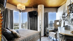 gold accent bedroom
