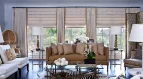 20 Living Areas Charmed With Simple Roman Shades