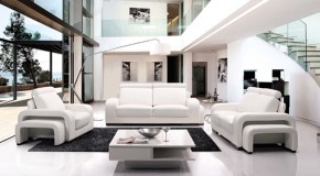20 Stunning White Leather Living Room Furniture