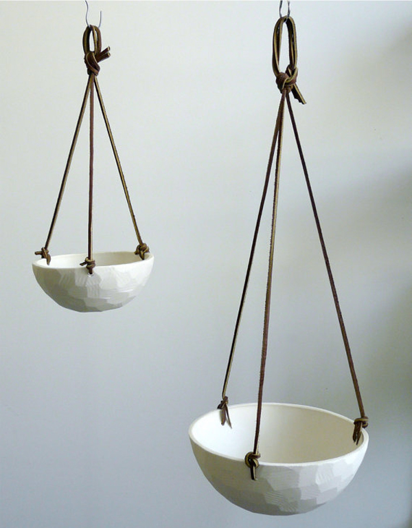 Leather Cord11 - 24 Pretty Ceramic Hanging Planters Home Design Lover