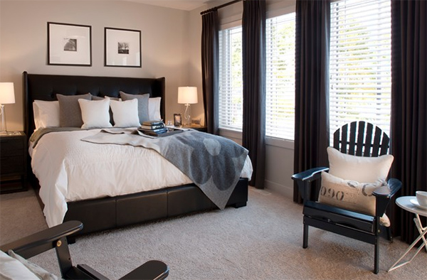 Bedroom Ideas Leather Bed 20 bedroom spaces with black leather beds | home design lover
