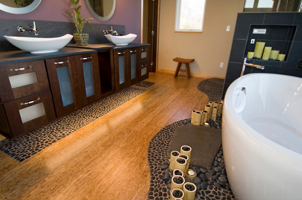 20 neat bamboo themed bathrooms home design lover for Bathroom ideas spa themed