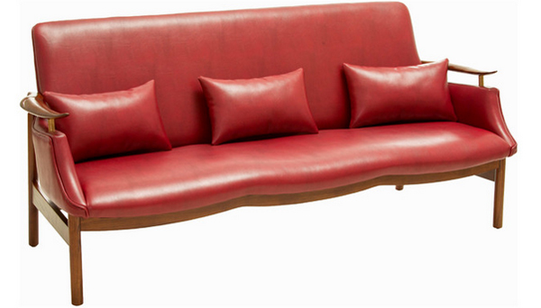 Delightful Vintage Red Sofa