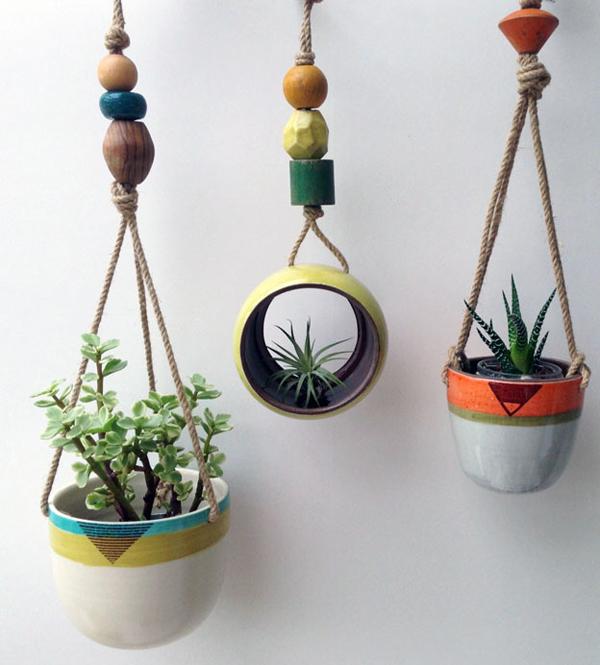 23. Hanging Ceramic Planters - 24 Pretty Ceramic Hanging Planters Home Design Lover