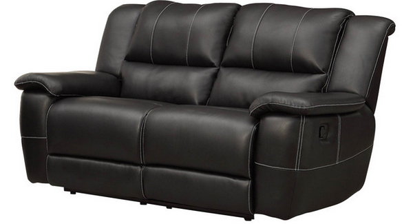 reclining black leather seat
