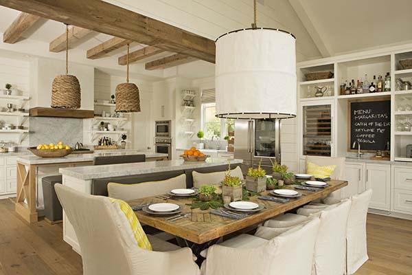 Warm Aura Of The Modern Farmhouse Eastbluff Residence In