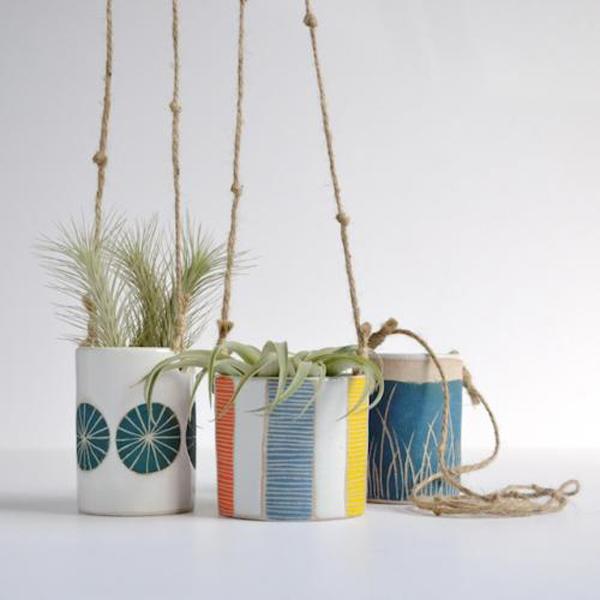 Jen Kuroki4 - 24 Pretty Ceramic Hanging Planters Home Design Lover