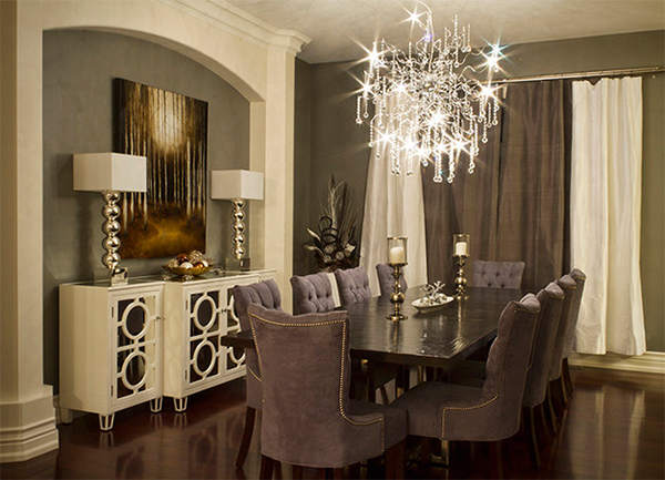 Velvet Dining Chairs in 20 Sophisticated Dining Rooms Home