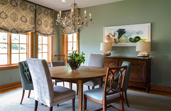 Manakin Sabot Dining Room. 20 Dining Areas with Roman Shades   Home Design Lover