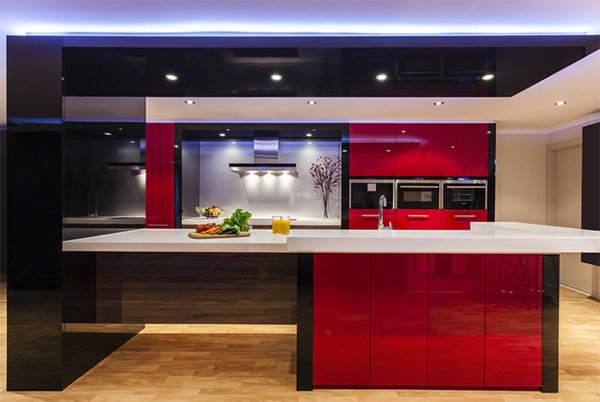 Kitchen Design Red And Black color scheme idea: 20 red, black and white kitchen designs | home
