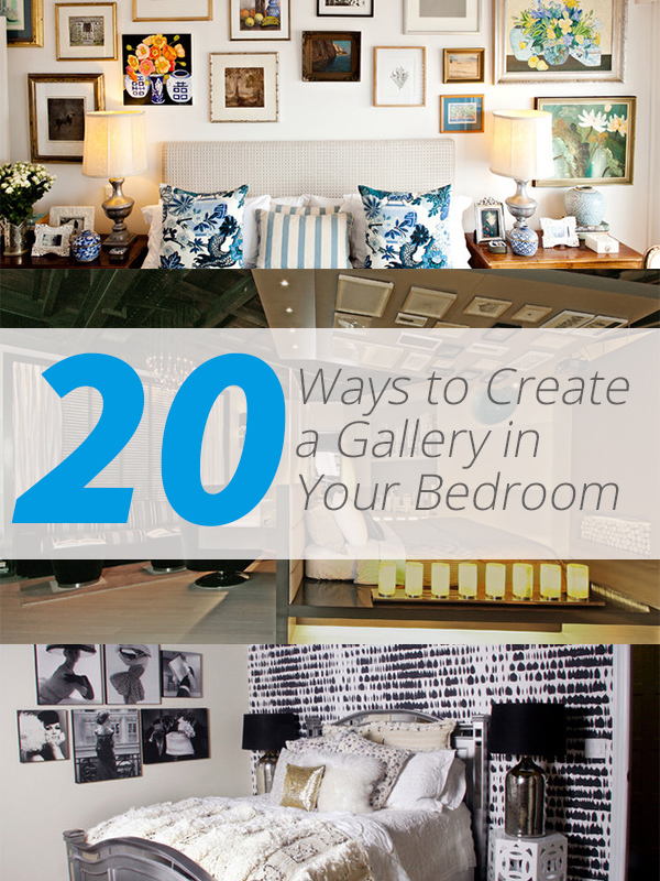 List Deluxe 20 Ways To Create A Gallery In Your Bed Room
