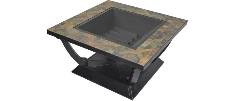 Slate Table Wood Burning Fire Pit