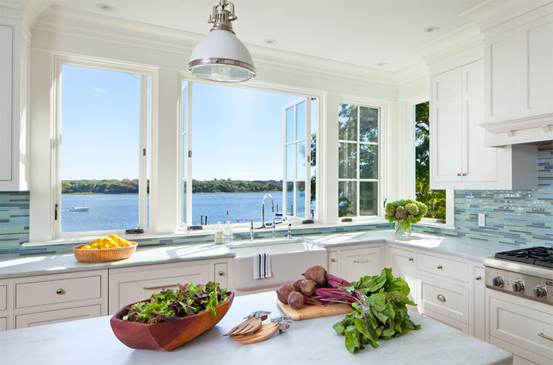25 kitchen design inspiration what is the view from your for House plans with kitchen sink window