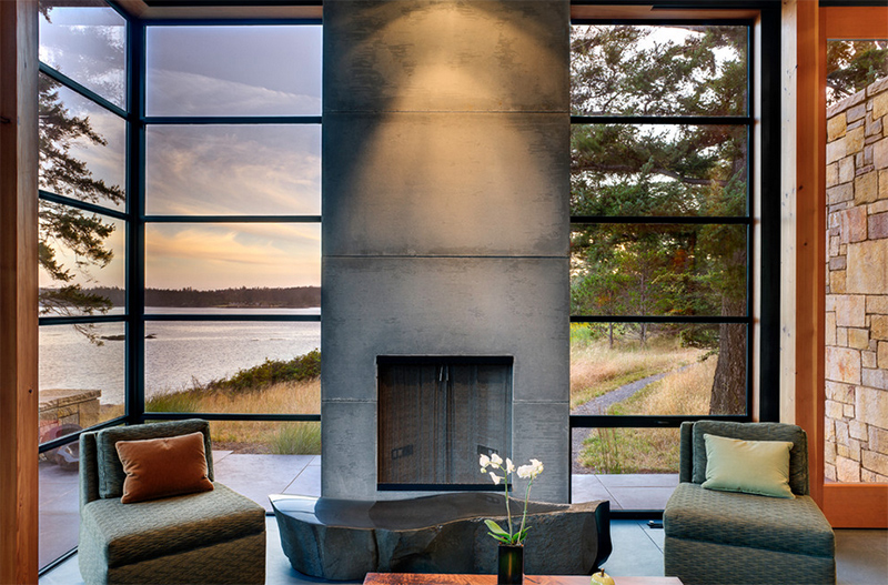 20 Concrete Fireplace Designs Highlighted In Well Designed