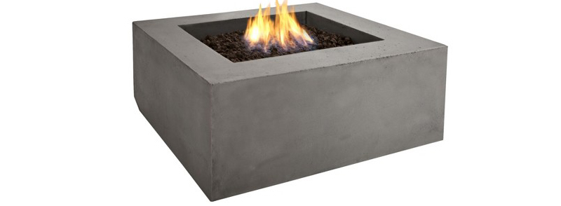 Natural Gas Square Fire Table