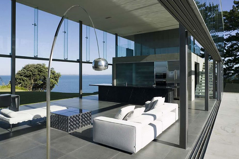 Cliff house in new zealand beautiful glass house for House interior design new zealand