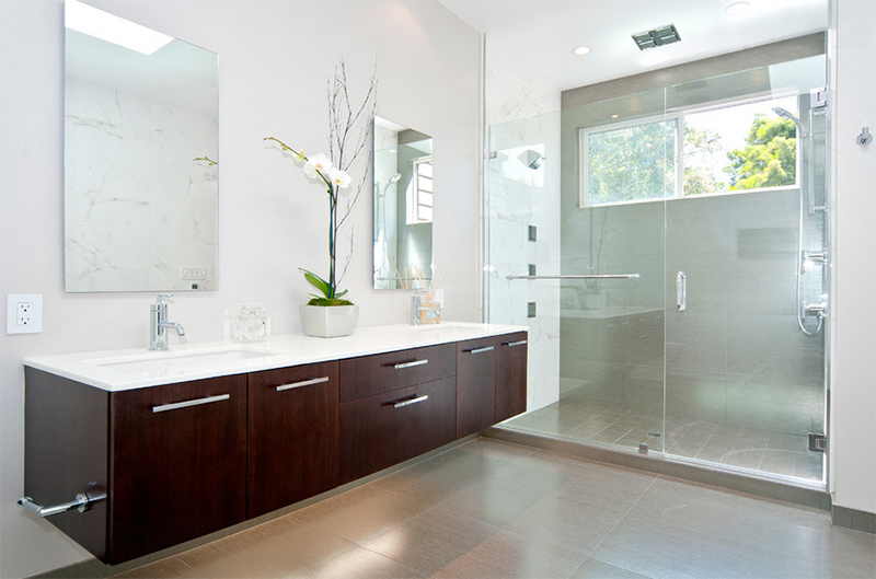 20 stunning contemporary dark wood bathroom vanity | home design lover