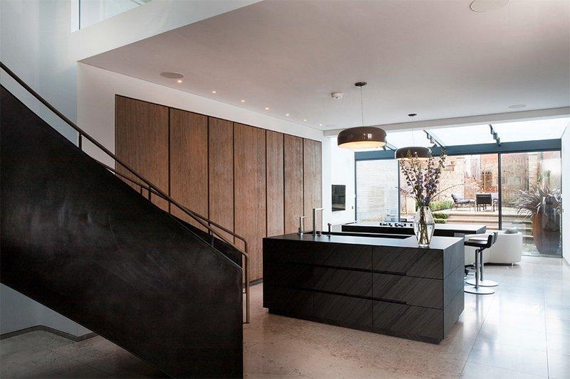 gray kitchen islands