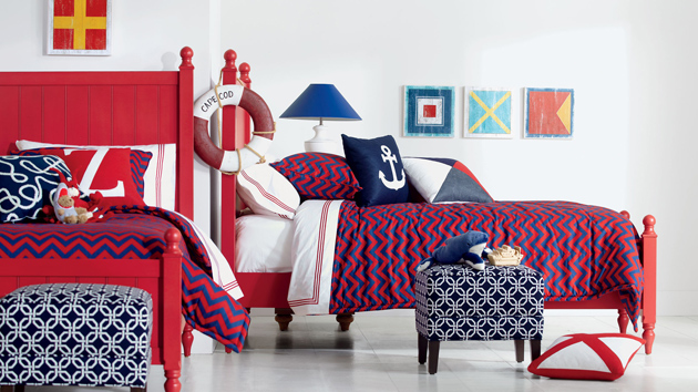 Red White And Blue Room the key colors used in this modern and chic bedroom are royal blue
