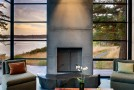 concrete fireplace lr