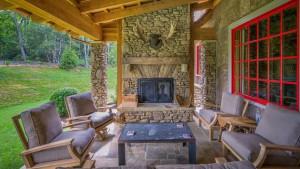 natural stone porch