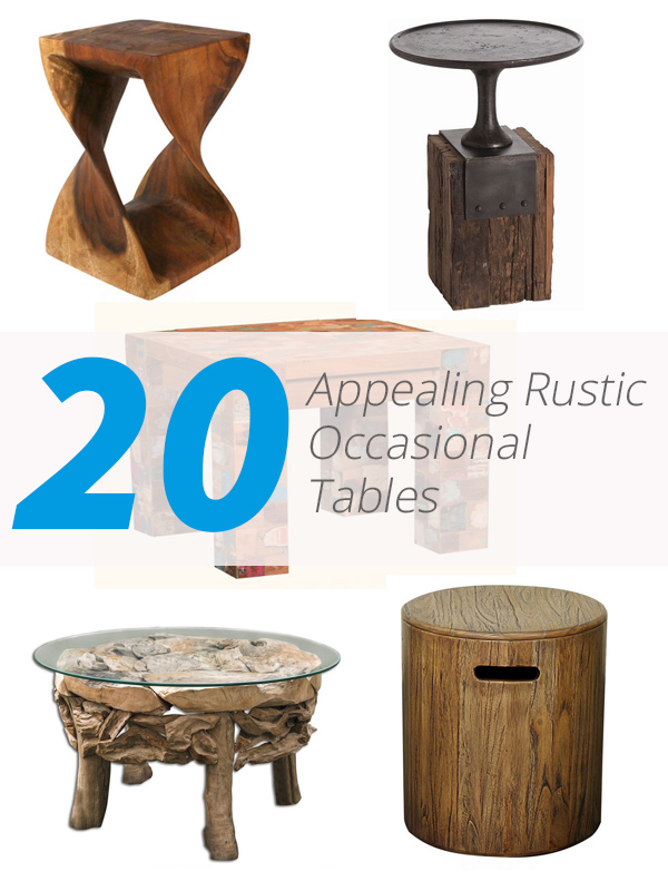 rustic occasional tables