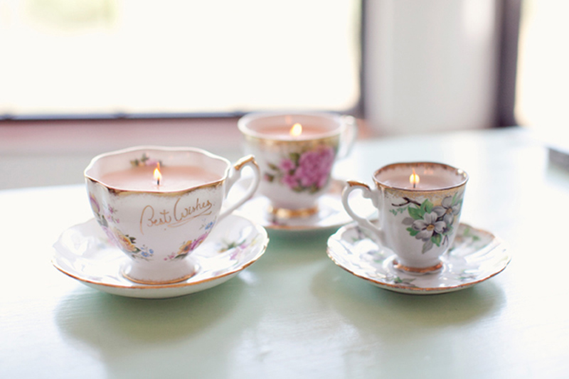 DIY Vintage Teacup Candles
