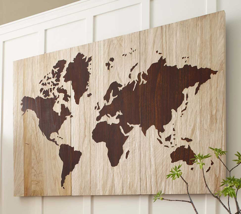 DIY Wooden World Map