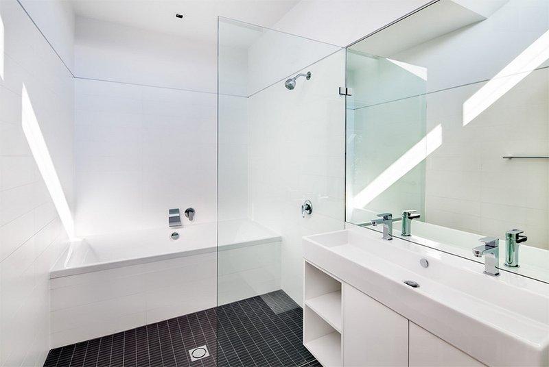 Modern White Tile Floor