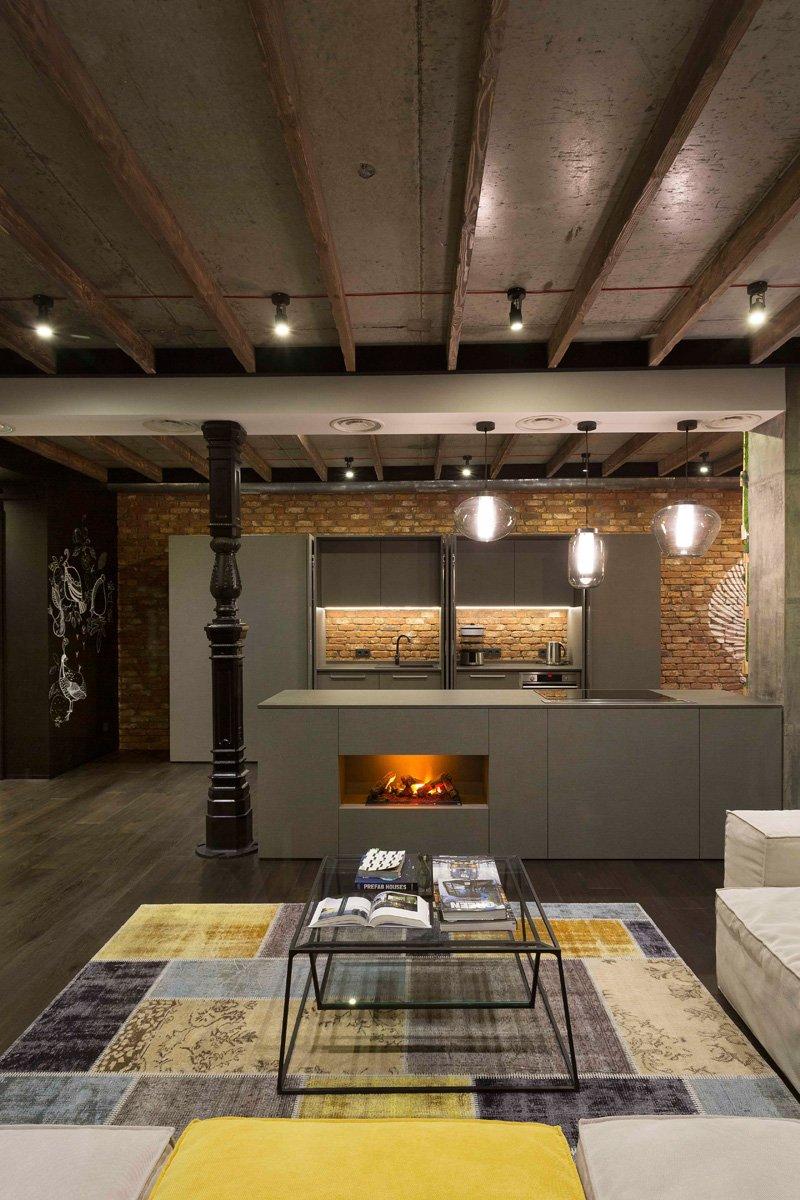 Modern Loft Apartment Bedroom: Modern Industrial Loft Apartment In Ukraine