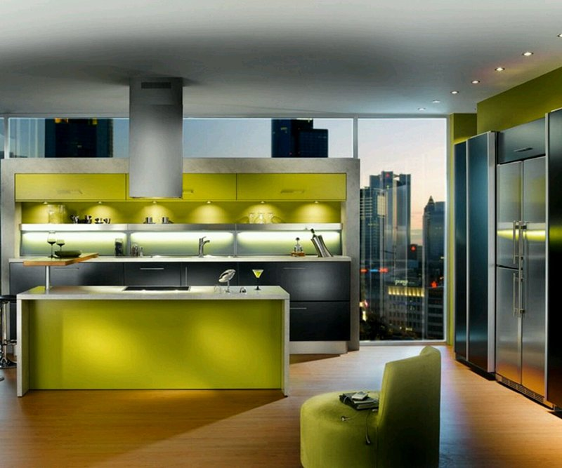 Modern Kitchen Green 20 ultra modern kitchens every cook would love to own | home