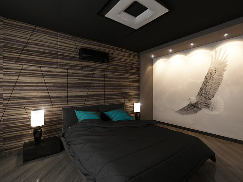 22 bachelor 39 s pad bedrooms for young energetic men home for Bedroom designs for young men
