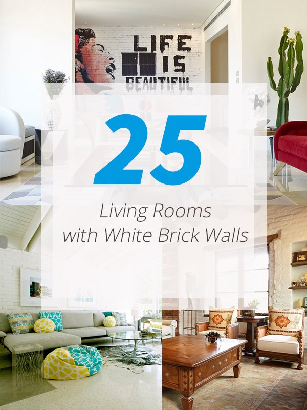 List Deluxe 25 Living Rooms With White Brick Walls List Deluxe