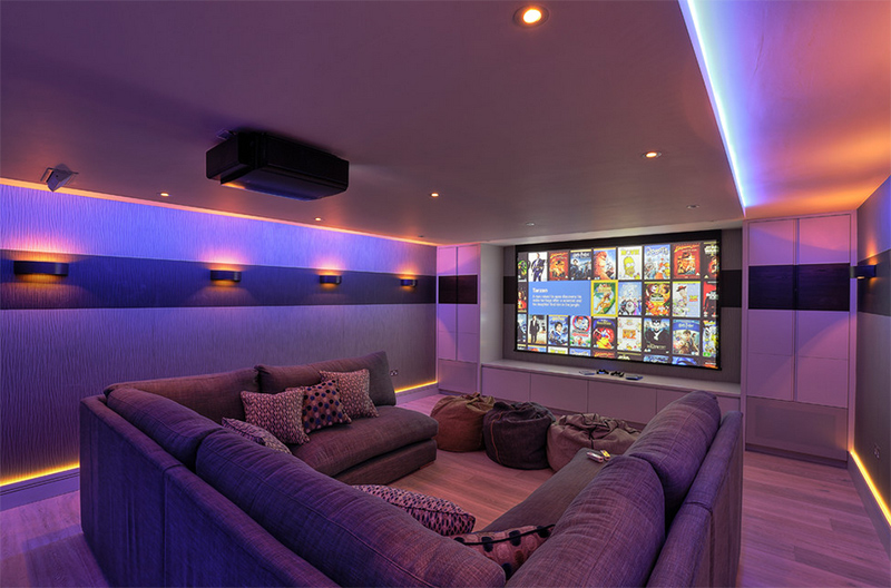 20 well designed contemporary home cinema ideas for the basement home design lover Home cinema interior design ideas