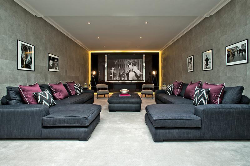 spacious home cinema