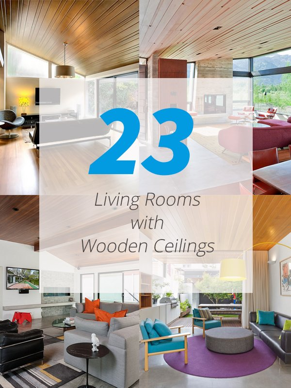wooden ceiling living