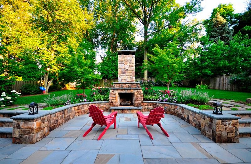 garden fireplace patio