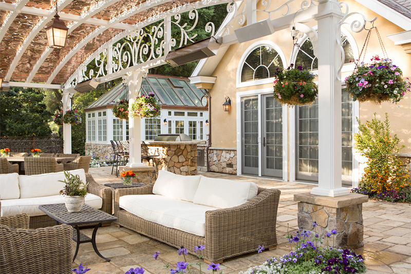 curved roof covered patio