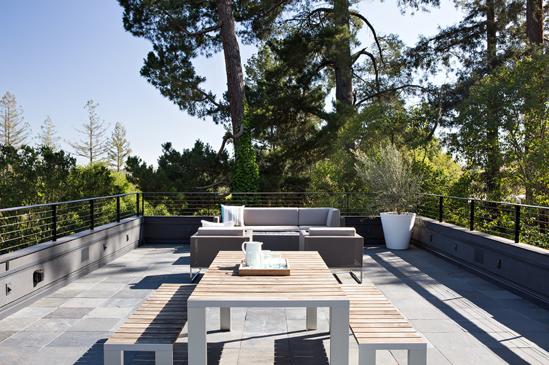California Addition roof deck