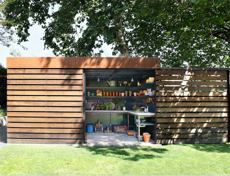 23 Impressive Contemporary Garden Shed Designs Home Design Lover - designer garden sheds melbourne