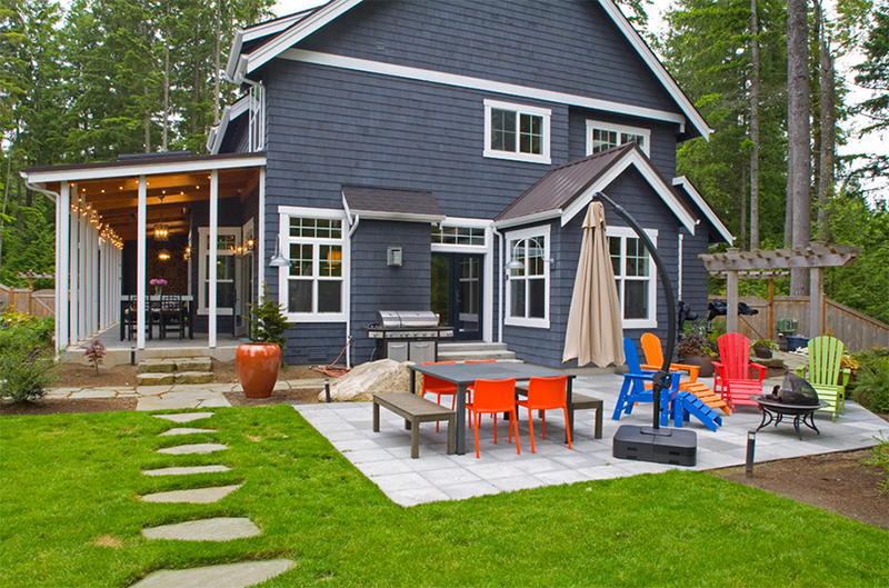 colorful outdoor chairs