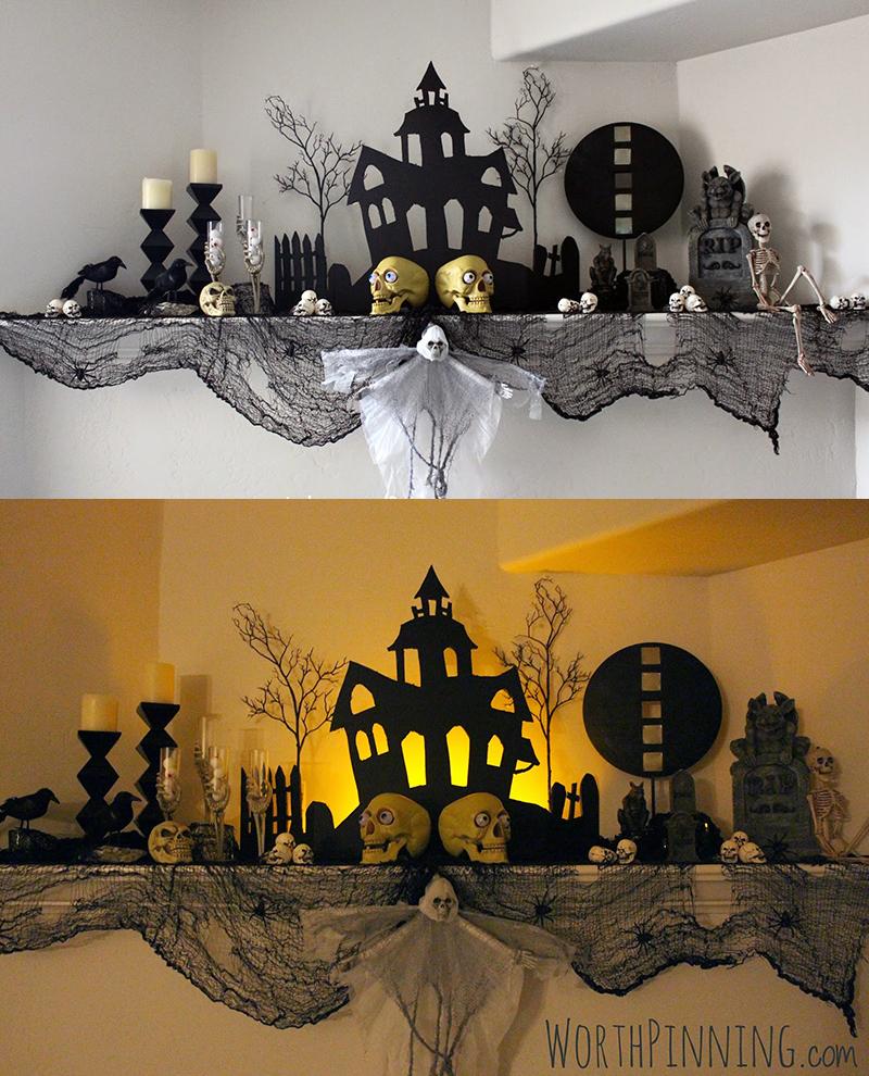 20 diy spook tacular halloween mantel ideas home design lover