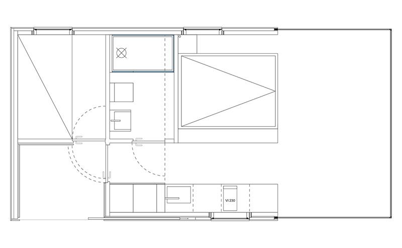 Manshausen Holiday Huts floor plan