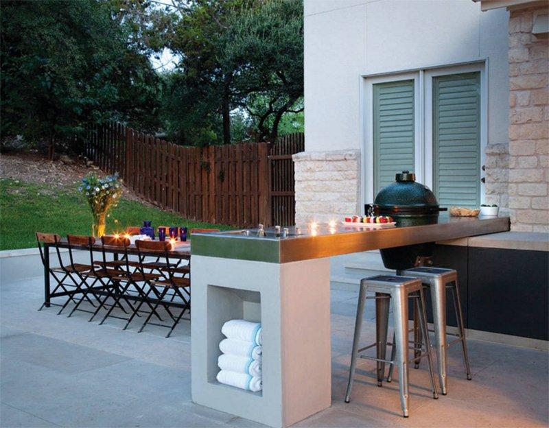 outdoor kitchen island