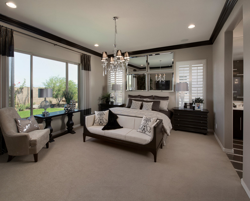 Meritage Homes. 25 Contemporary Bedrooms with Stunning Crystal Chandeliers   Home