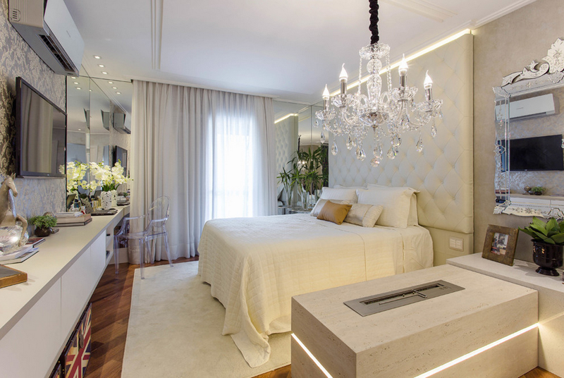 Marcia Arcaro. 25 Contemporary Bedrooms with Stunning Crystal Chandeliers   Home
