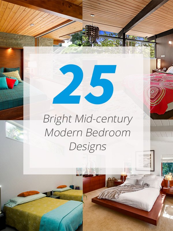 25 bright mid century modern bedroom designs home design