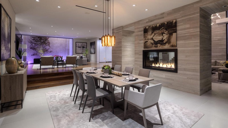 Hollywood Hills Home dining