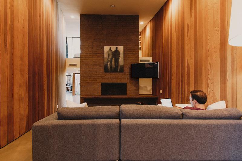 Redwood Clad Home living