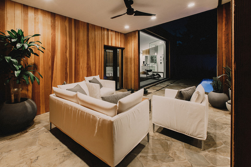 Redwood Clad Home white
